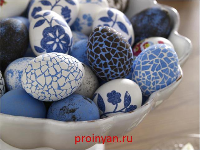 яйца крашенные мозаикой фото
