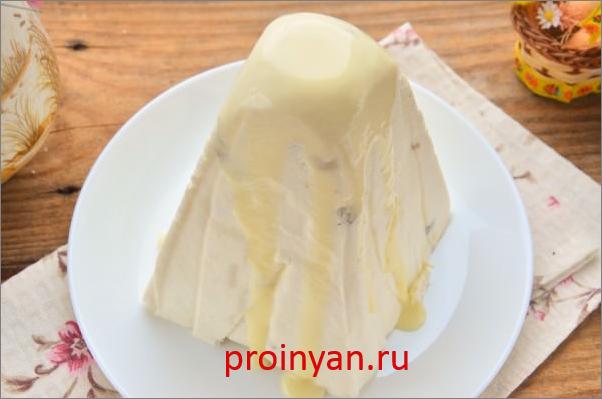 рецепт пасхи из творога со сгущенкой