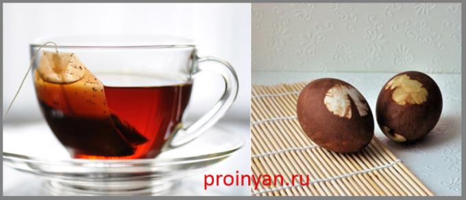 яйца крашенные в чае фото
