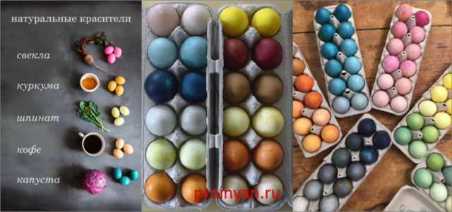 яйца крашенные натуральными красителями