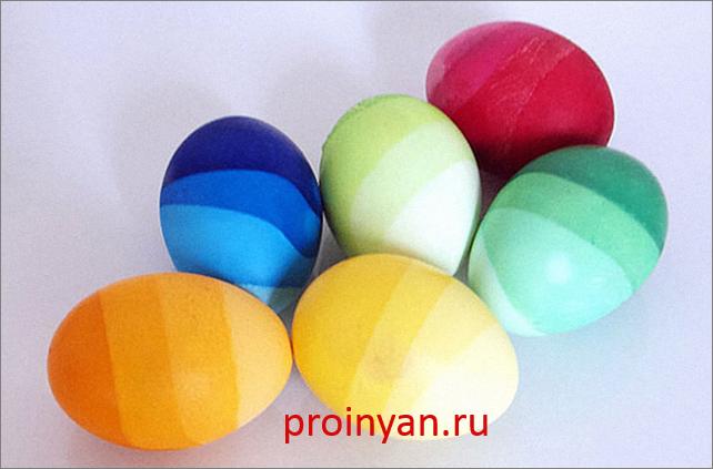 яйца крашенные с переходом цвета фото