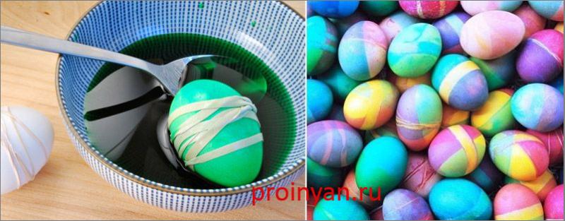 яйца крашенные с резинками фото